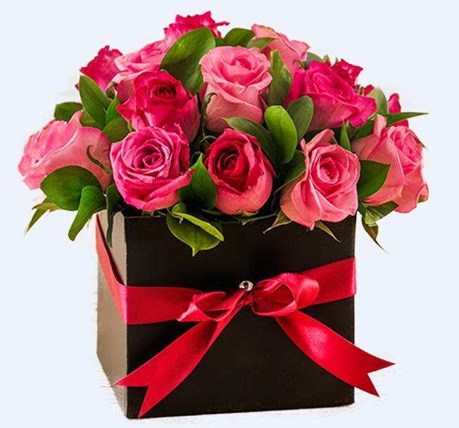 С днем рождения цветы картинки красивые в коробке, поздравления