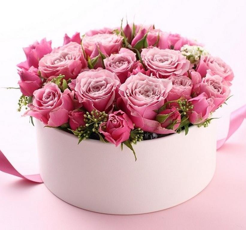 Картинки, открытки букеты цветов в коробке